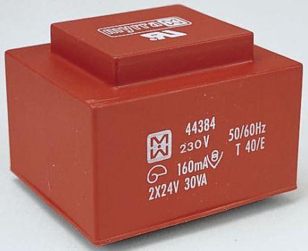 Myrra 15V ac 2 Output Through Hole PCB Transformer, 30VA