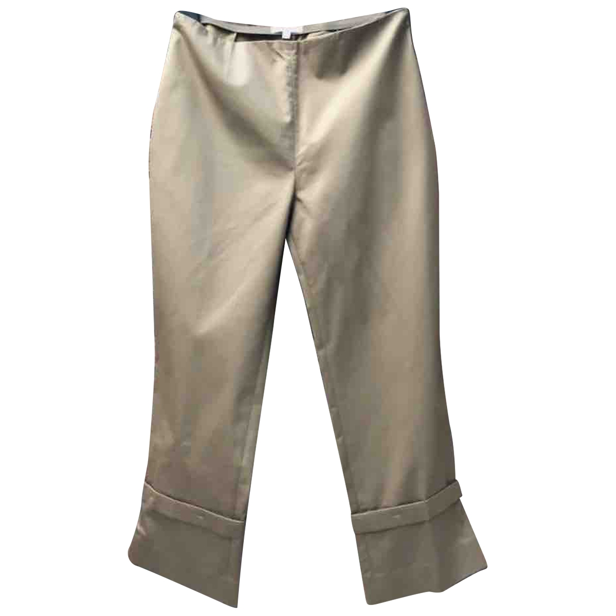 Paule Ka \N Camel Cotton Trousers for Women 38 FR
