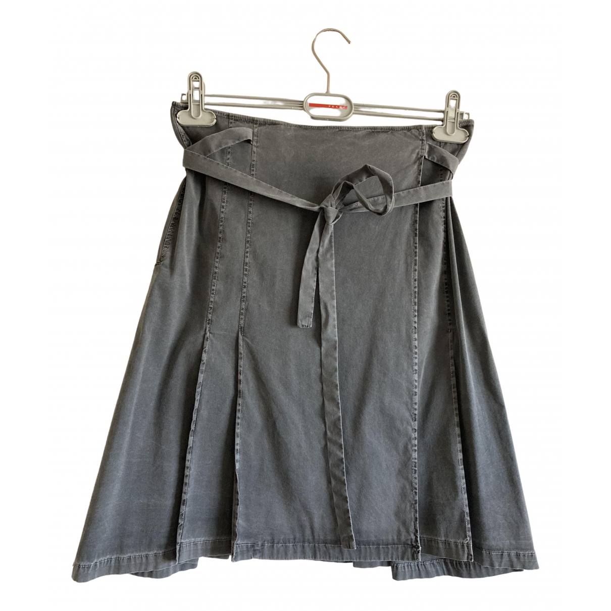 Prada - Jupe   pour femme en coton - elasthane - gris