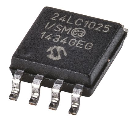 Microchip 24LC1025-I/SM, 1Mbit Serial EEPROM Memory, 900ns 8-Pin SOIJ I2C