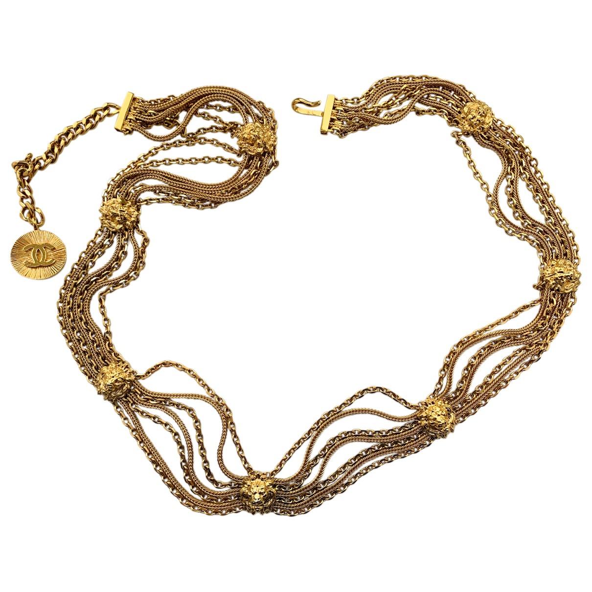 Chanel \N Gold Chain belt for Women 95 cm