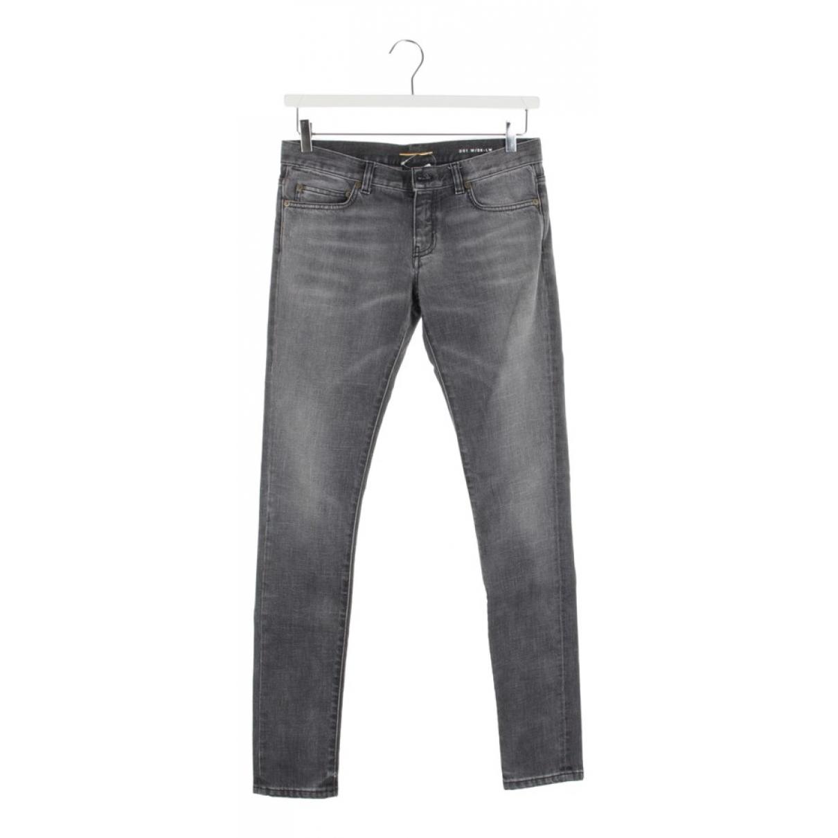 Saint Laurent \N Grey Cotton Jeans for Women 28 US
