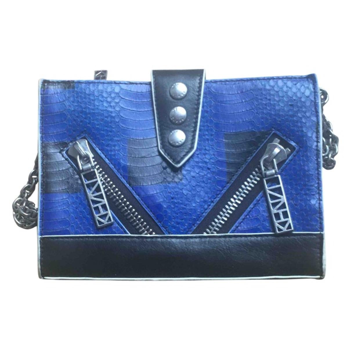 Kenzo - Pochette Kalifornia pour femme en python - bleu