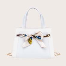 Handtasche mit Schleife Dekor
