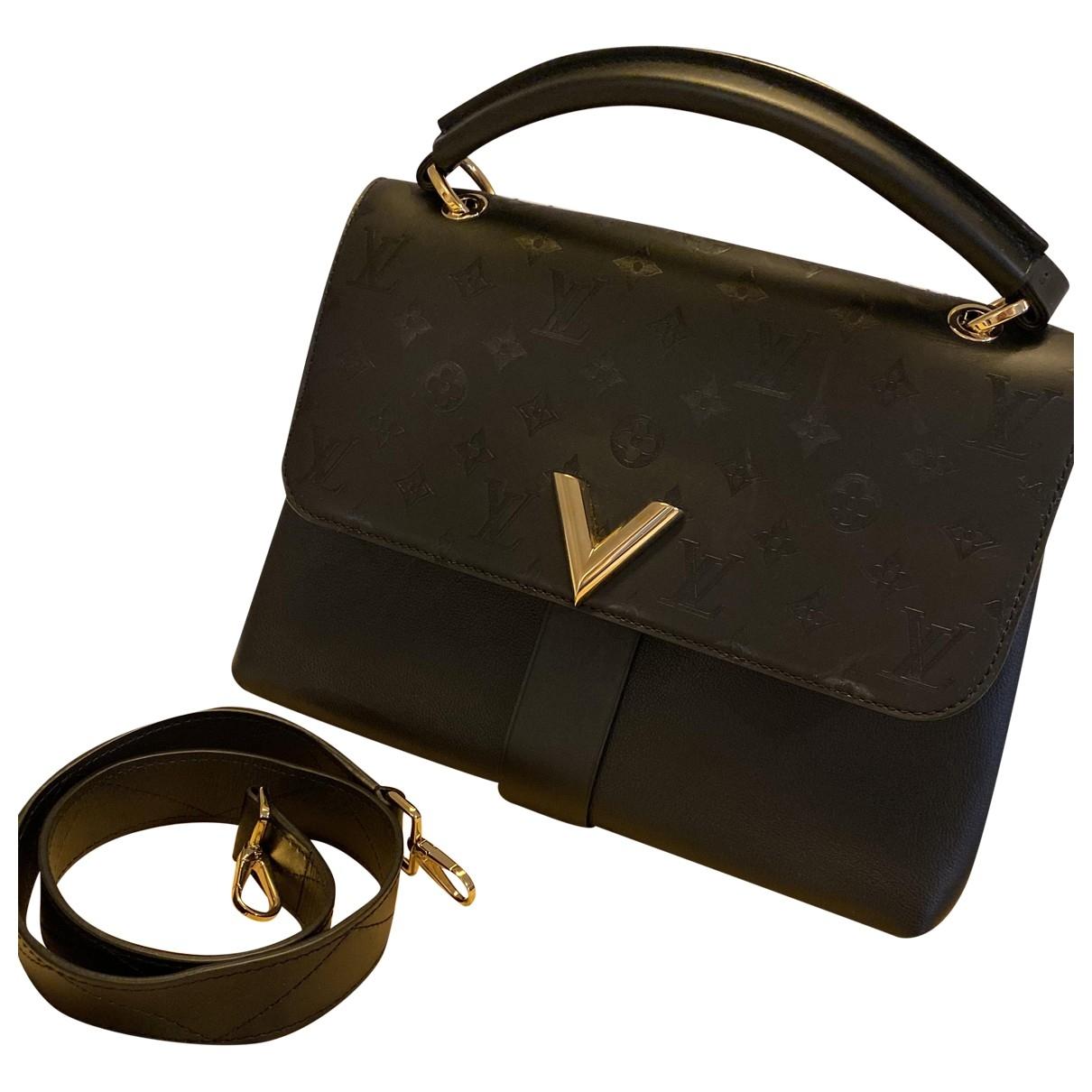 Louis Vuitton - Sac a main One Handle very pour femme en cuir - noir