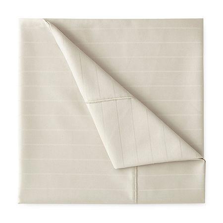 Liz Claiborne Luxury 600tc Sateen Wrinkle Free Sheet Set, One Size , Beige