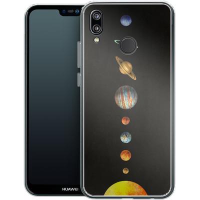 Huawei P20 Lite Silikon Handyhuelle - Solar System von Terry Fan
