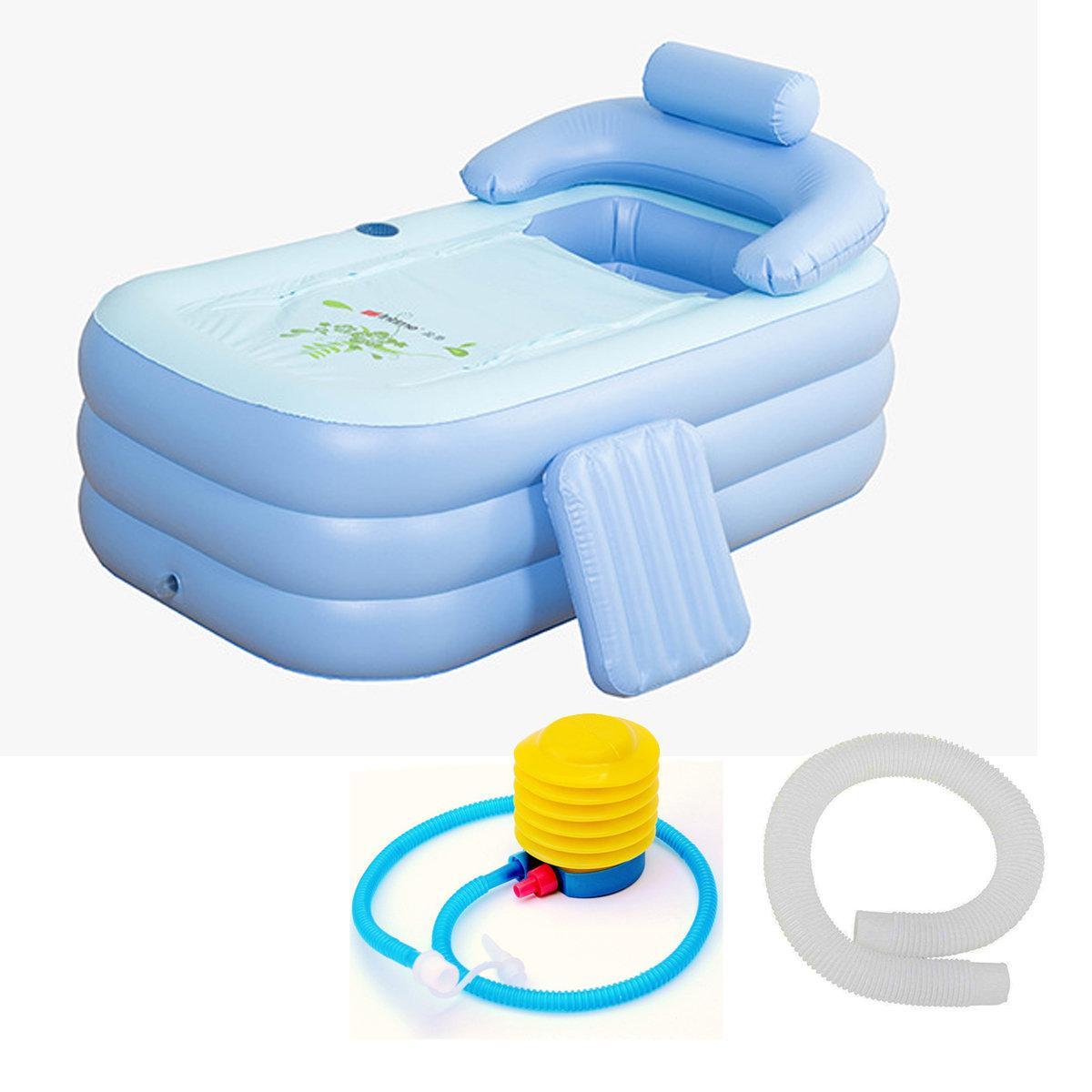 160 *84* 64cm Foldable Inflatable Bath Tub PVC Adult Bathtub With Air Pump