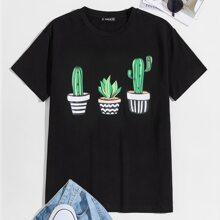 Guys Cactus Print Tee