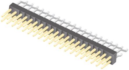 Samtec , TSM, 40 Way, 2 Row, Right Angle Pin Header