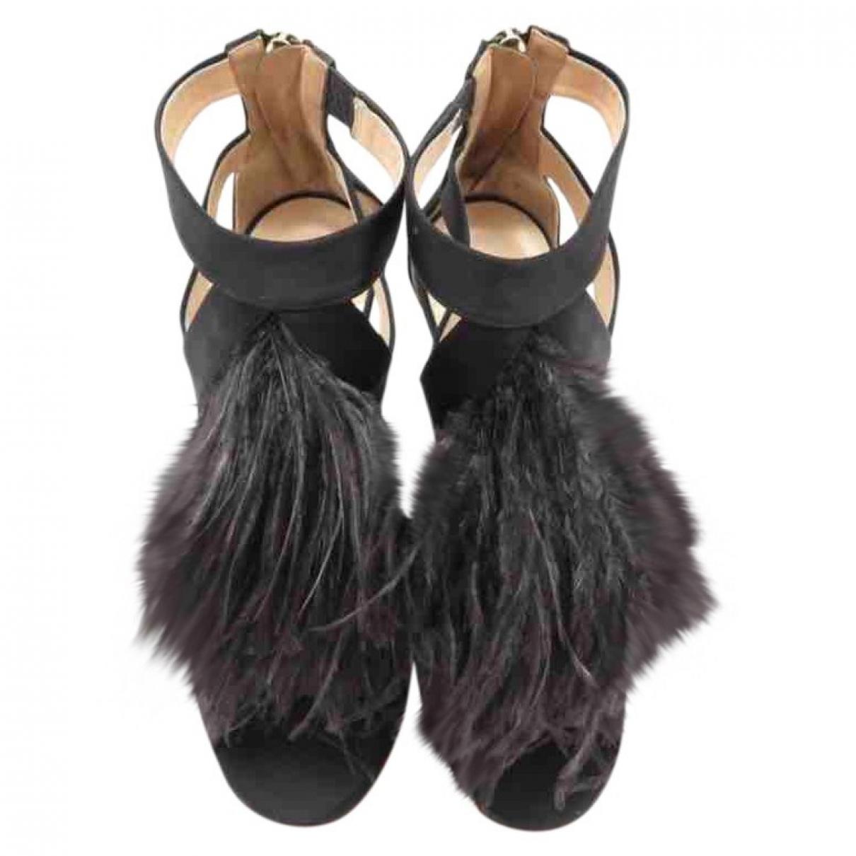 Jimmy Choo \N Black Cloth Sandals for Women 39 EU