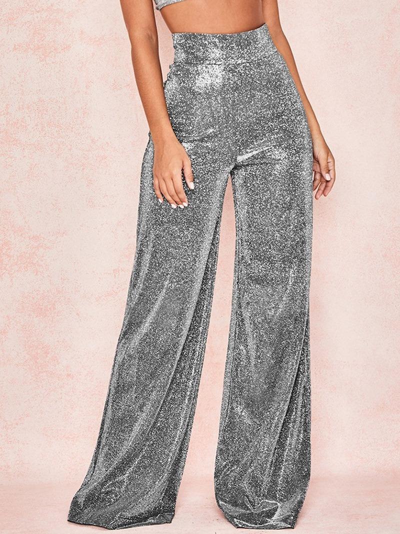 Ericdress Loose Plain Full Length Straight Casual Pants