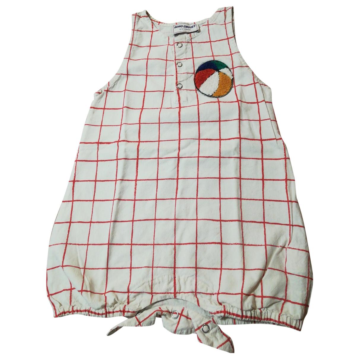 Bobo Choses - Robe    pour enfant en coton - blanc