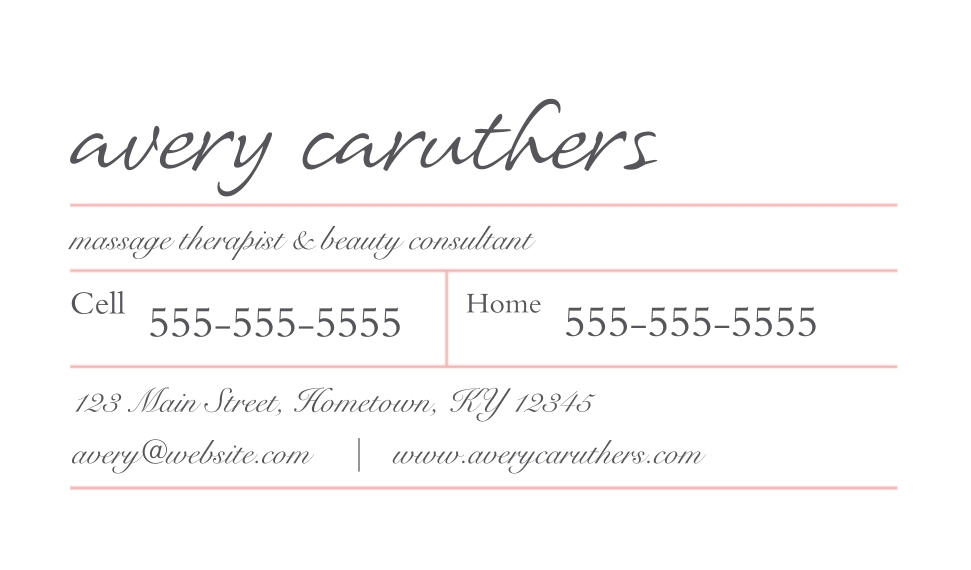 Monogram Business Cards, Set of 40, Card & Stationery -Simple Boxes