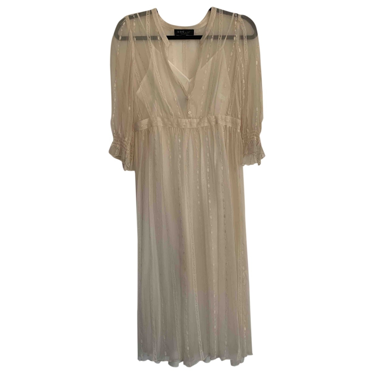 Non Signé / Unsigned \N Ecru Silk dress for Women 6 US