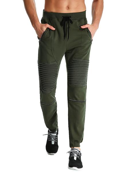Yoins MODCHOK Men Fitness Sport Pants Breathable Outdoor Zipper Pocket Sweatpants