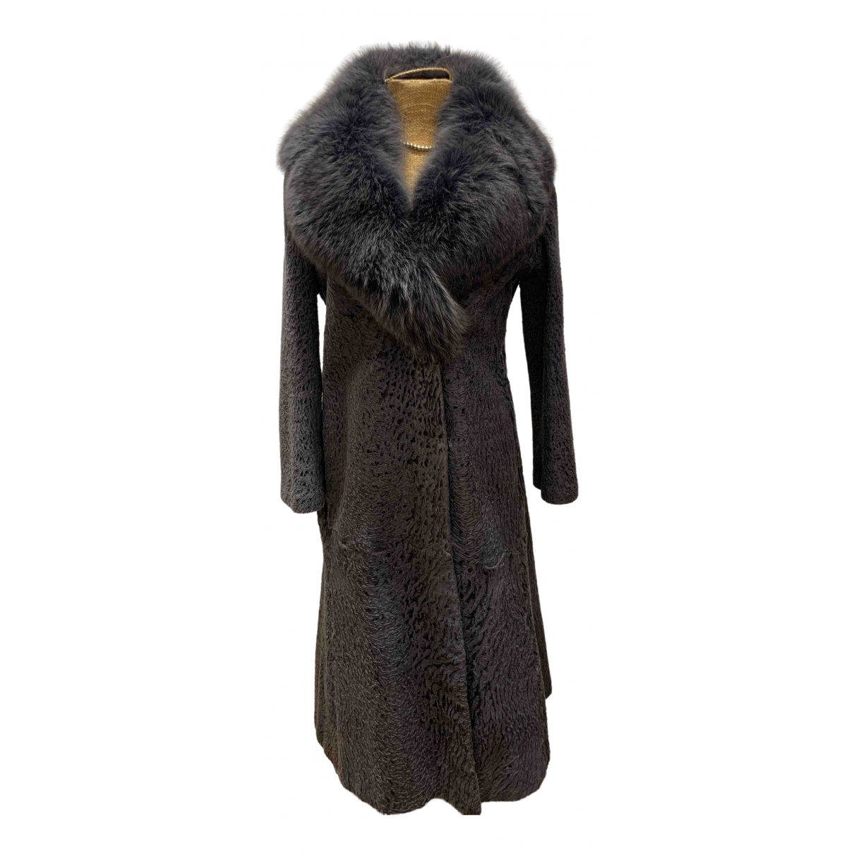 Non Signé / Unsigned \N Grey Astrakhan coat for Women 42 IT
