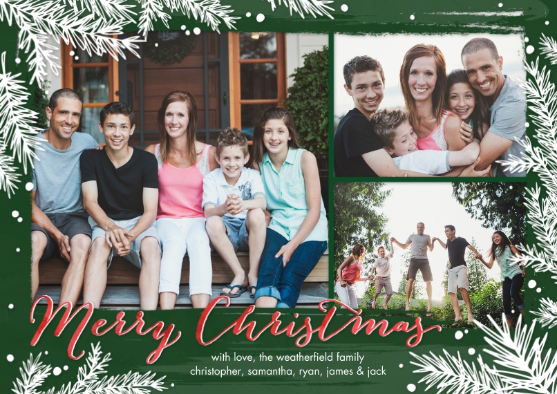 Christmas Photo Cards 5x7 Cards, Premium Cardstock 120lb, Card & Stationery -Christmas Branches by Tumbalina