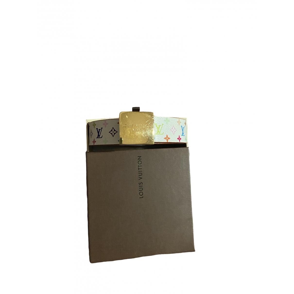Louis Vuitton \N Guertel in  Weiss Leinen