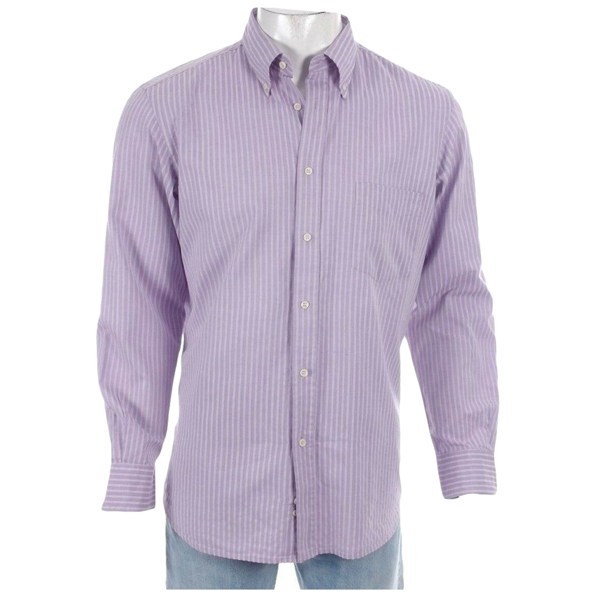 Boggi \N Purple Cotton Shirts for Men L International