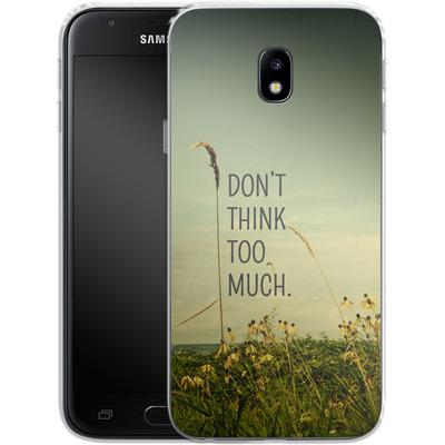 Samsung Galaxy J3 (2017) Silikon Handyhuelle - Travel Like A Bird Without Care von Joy StClaire