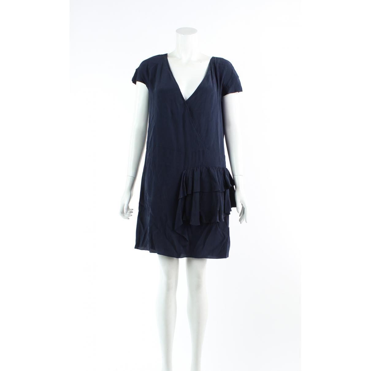 Miu Miu \N Navy Silk dress for Women 42 FR