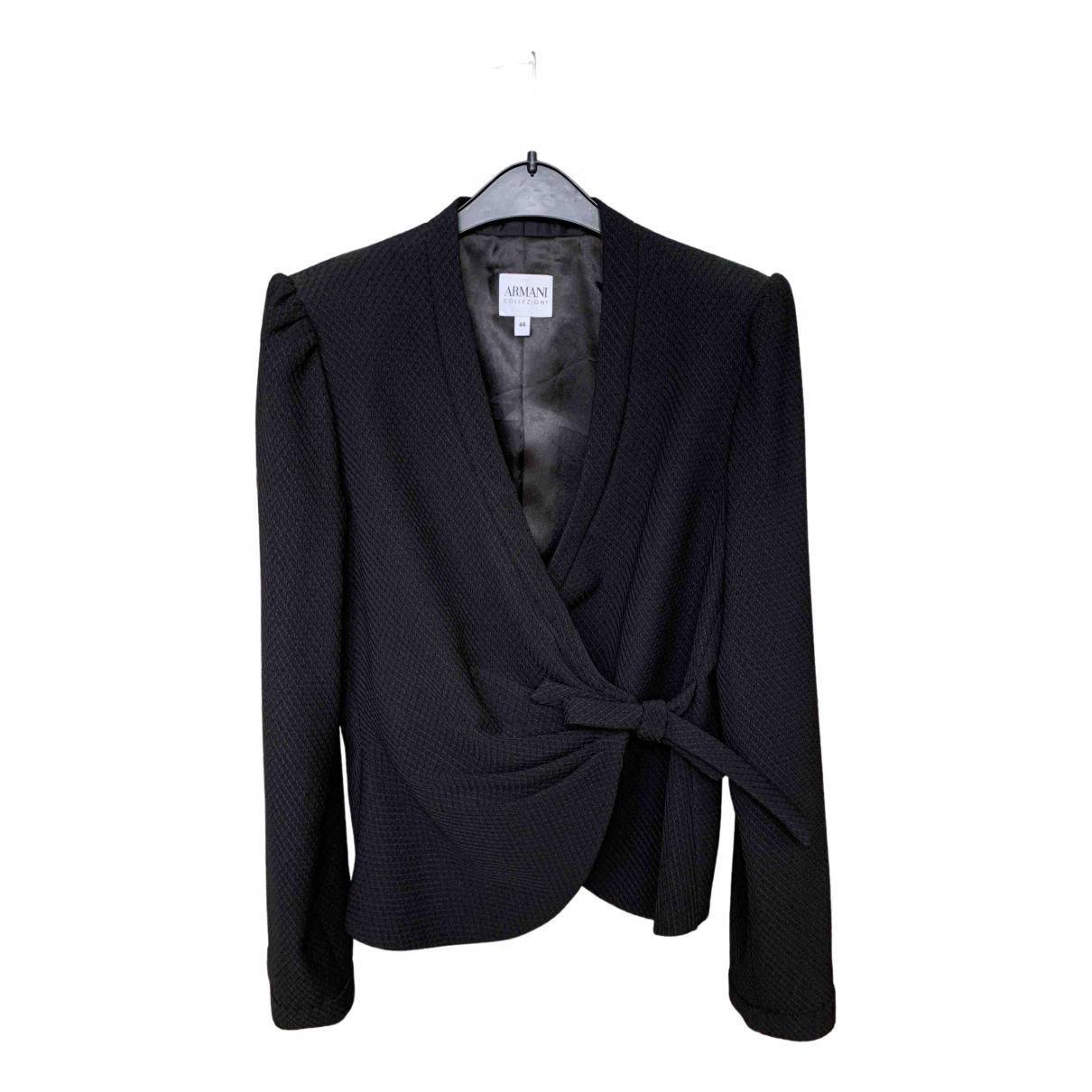 Armani Collezioni \N Black jacket for Women 46 FR