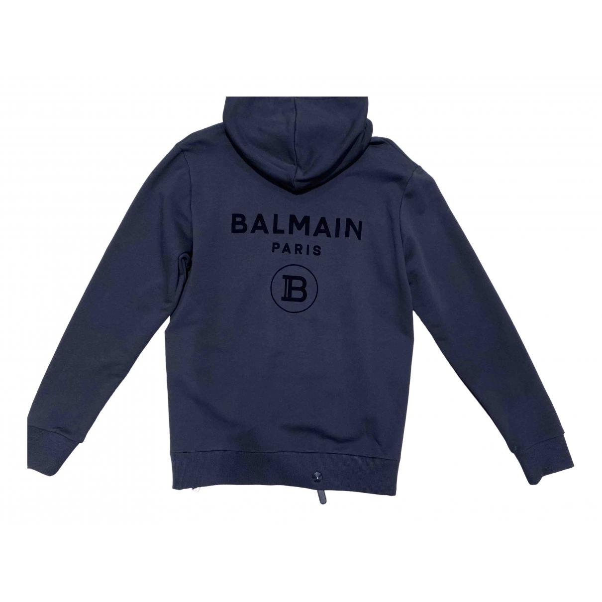 Balmain \N Pullover.Westen.Sweatshirts  in  Schwarz Baumwolle