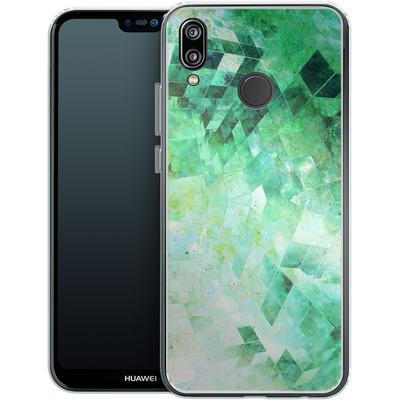 Huawei P20 Lite Silikon Handyhuelle - Occult Galaxy Structure von Barruf