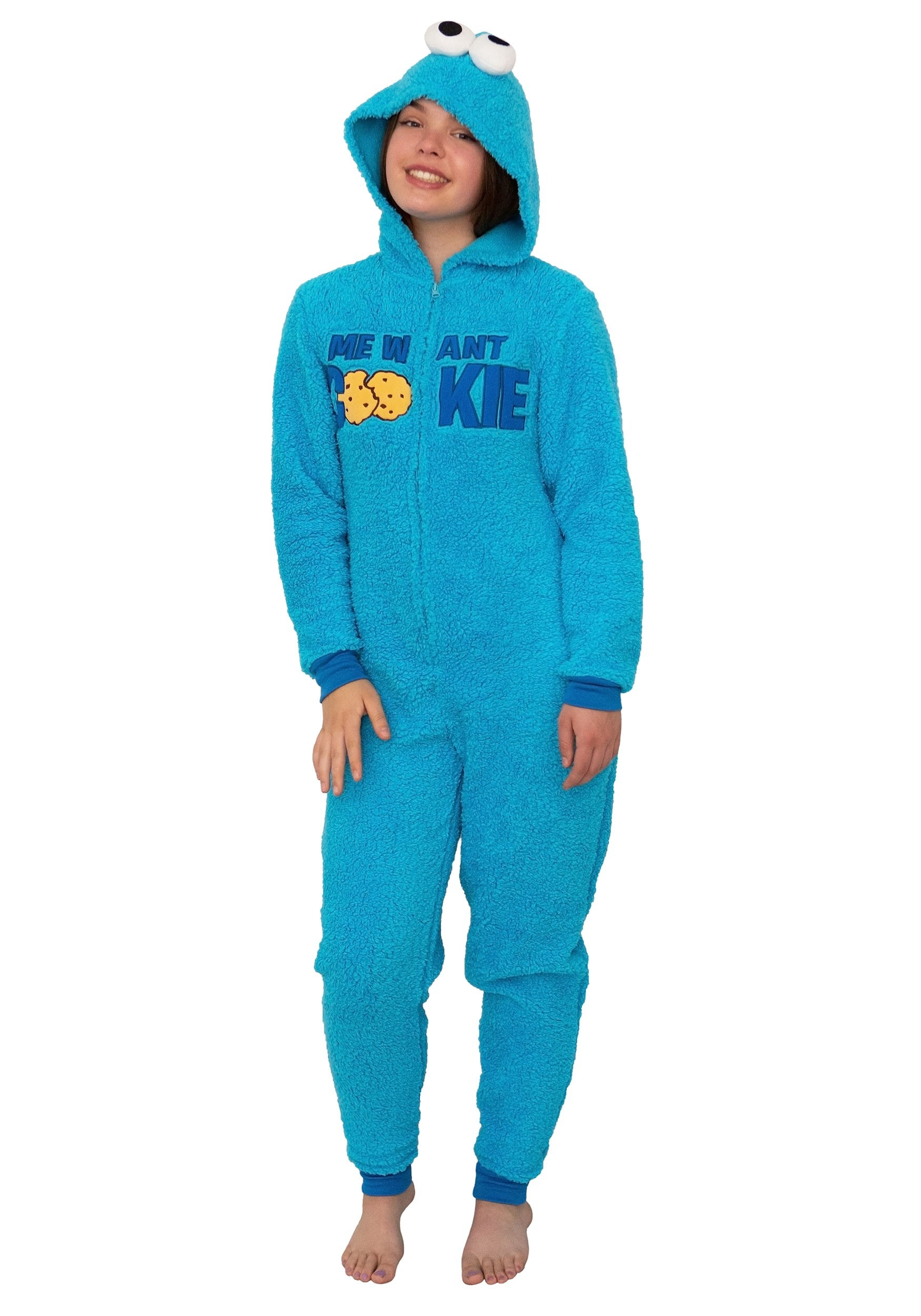 Sesame Street Cookie Monster Union Suit Costume for Women