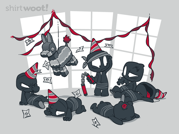 Unstealthiest Ninja: Party Time T Shirt