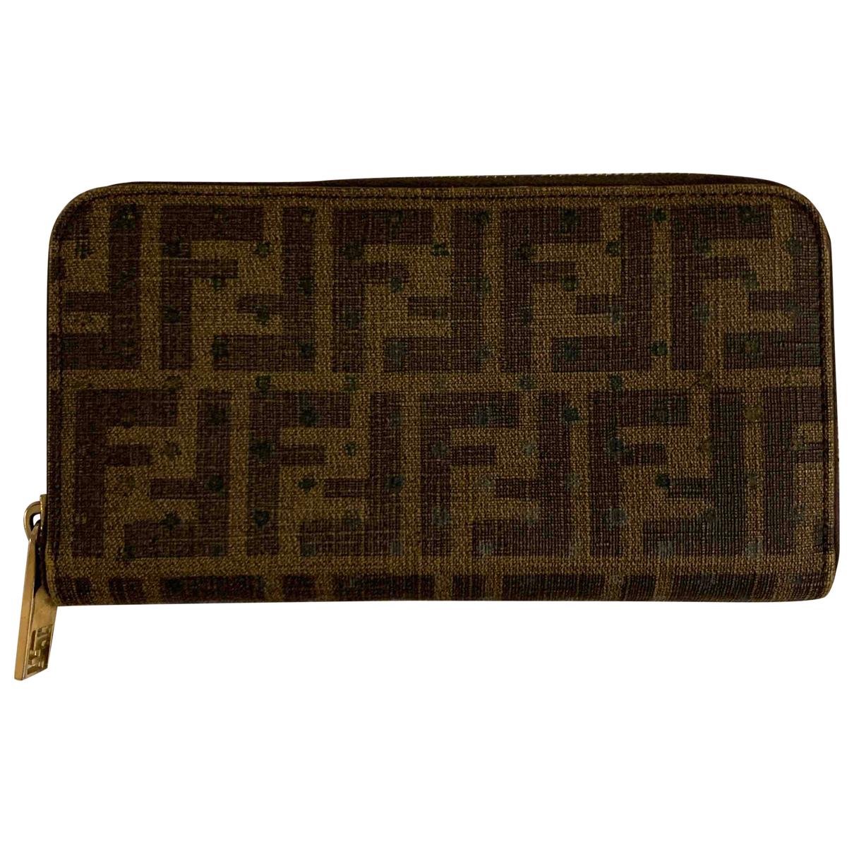 Fendi - Portefeuille   pour femme en cuir - marron
