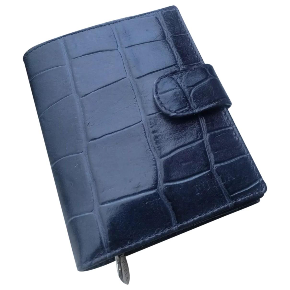 Furla - Portefeuille   pour femme en cuir - bleu