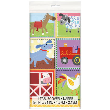 Farm Party Rectangular Plastic Table Cover, 54