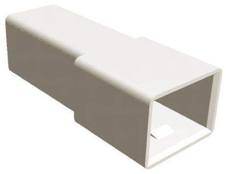 TE Connectivity AMP FASTIN-FASTON Series, 1 Way Nylon 66 Crimp Terminal Housing, 6.35mm Tab Size, Natural (10)