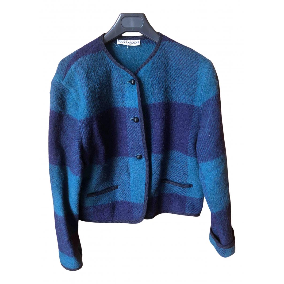 Guy Laroche \N Pullover in  Blau Wolle