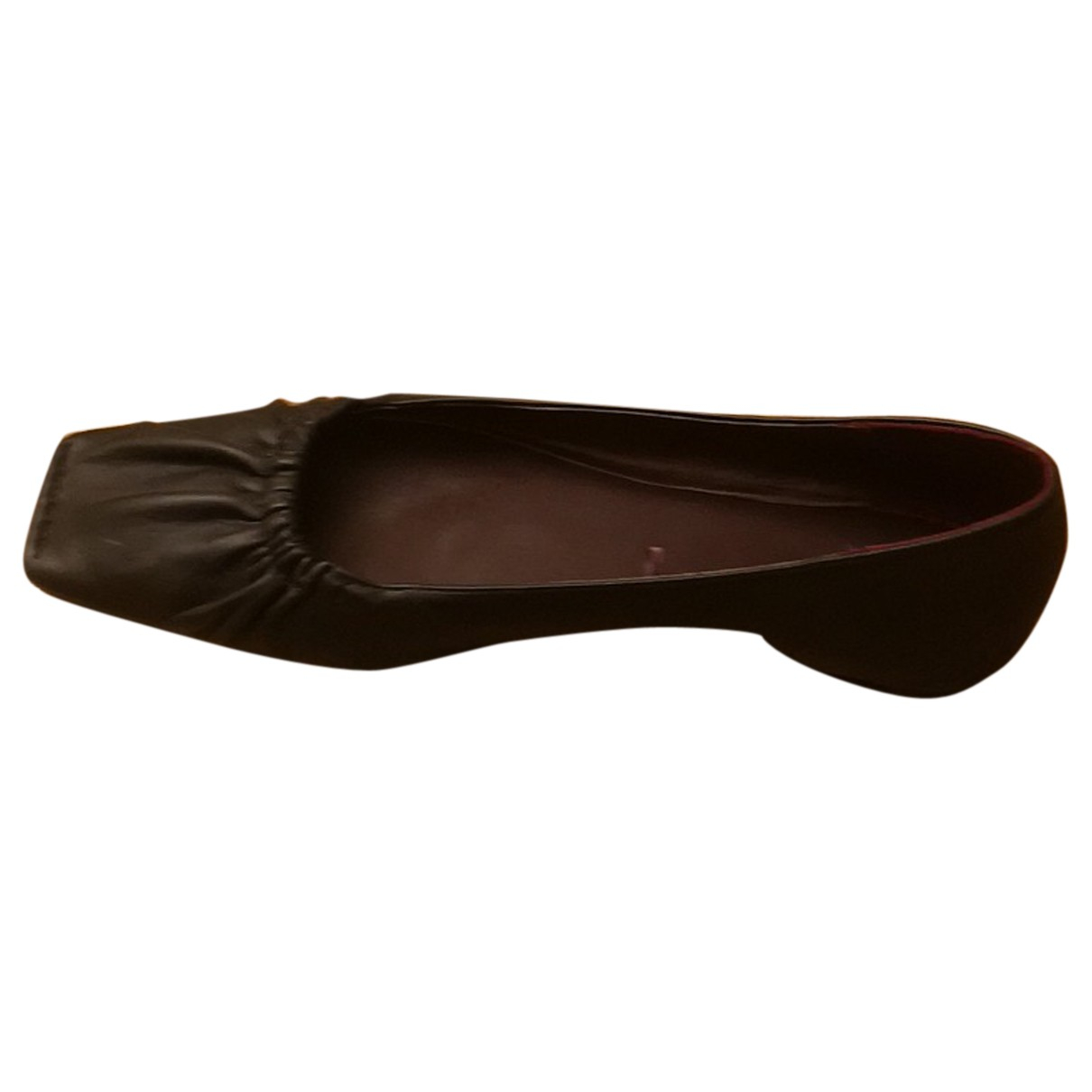 Zara N Black Leather Ballet flats for Women 40 EU