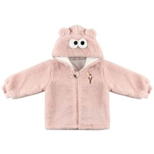 Toddler Girls 3D Ear Design Teddy Coat