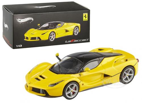 Ferrari Laferrari F70 Hybrid Elite Yellow 1/43 Diecast Car Model by Hotwheels
