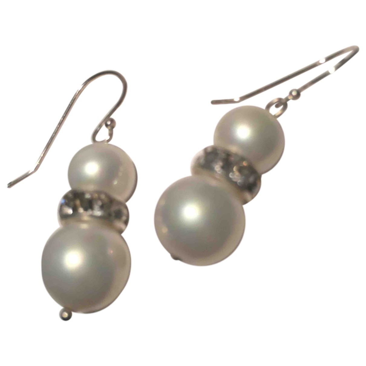 Non Signé / Unsigned \N Silver Pearls Earrings for Women \N