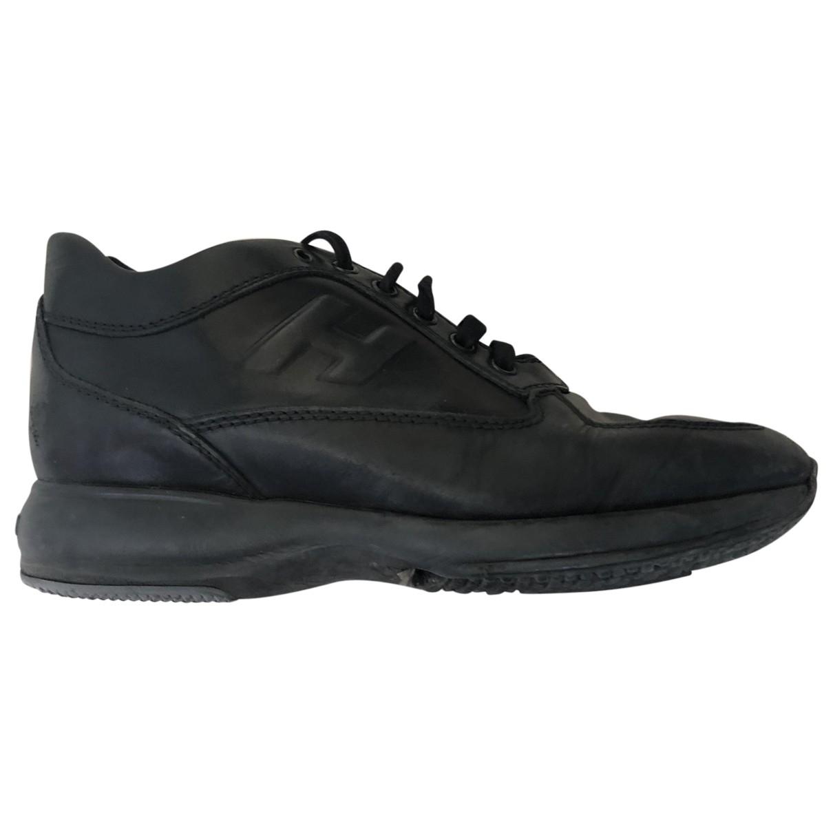 Hogan - Mocassins   pour homme en cuir - noir