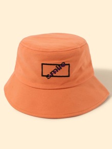 2pcs Letter Embroidery Bucket Hat