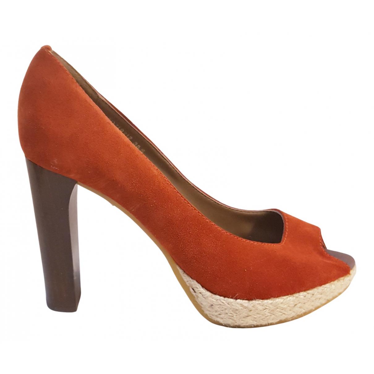 Boss Orange - Escarpins   pour femme en velours - orange