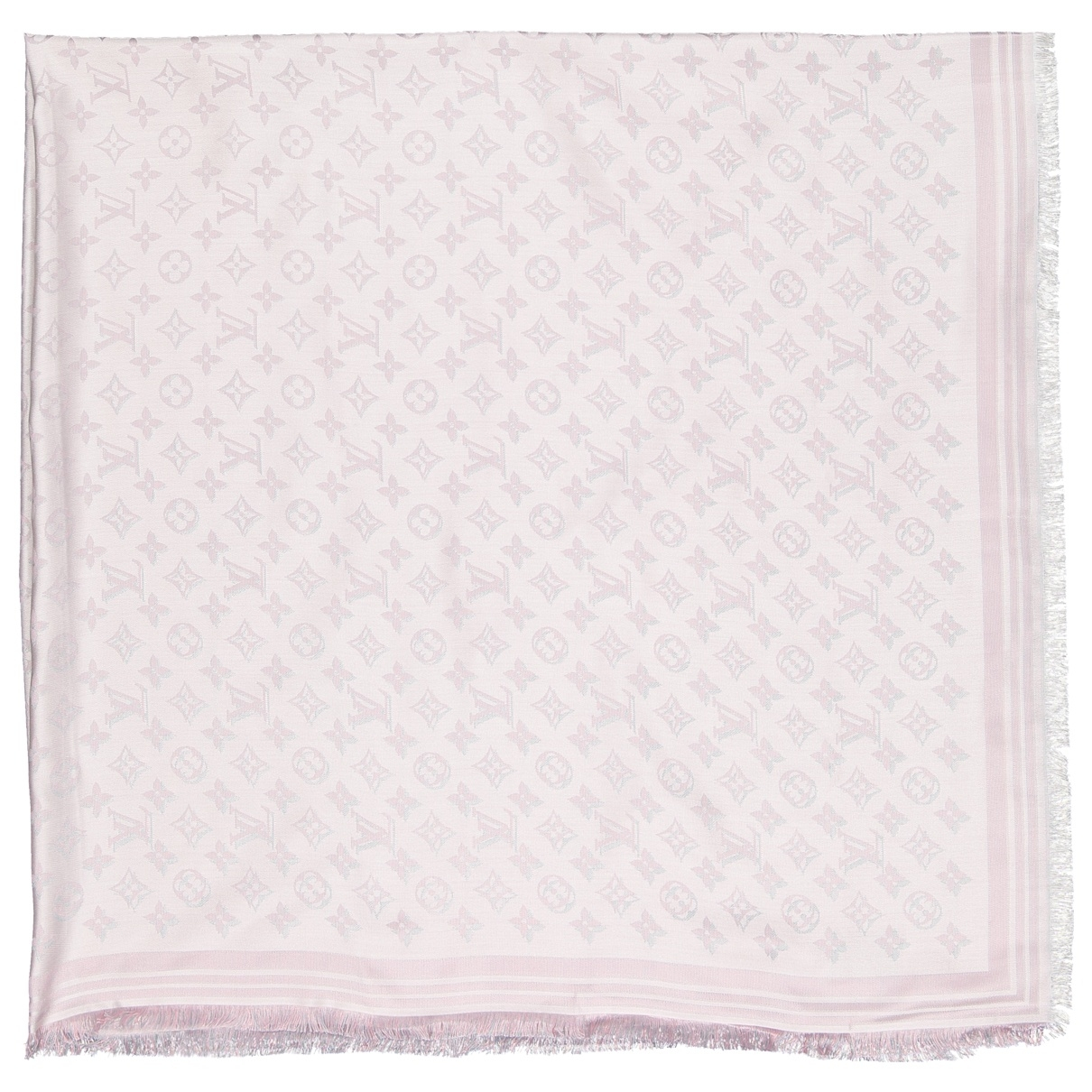 Louis Vuitton Châle Monogram Pink Silk scarf for Women \N