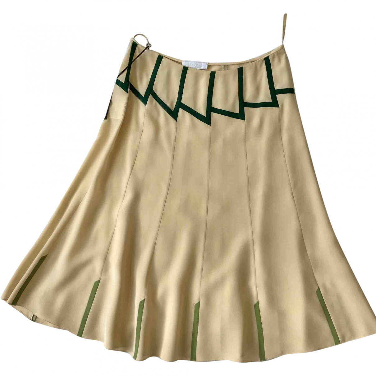 Prada \N Ecru Silk skirt for Women 40 IT