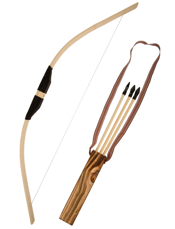Kostuemzubehor Pfeil und Bogen Holz Farbe: braun