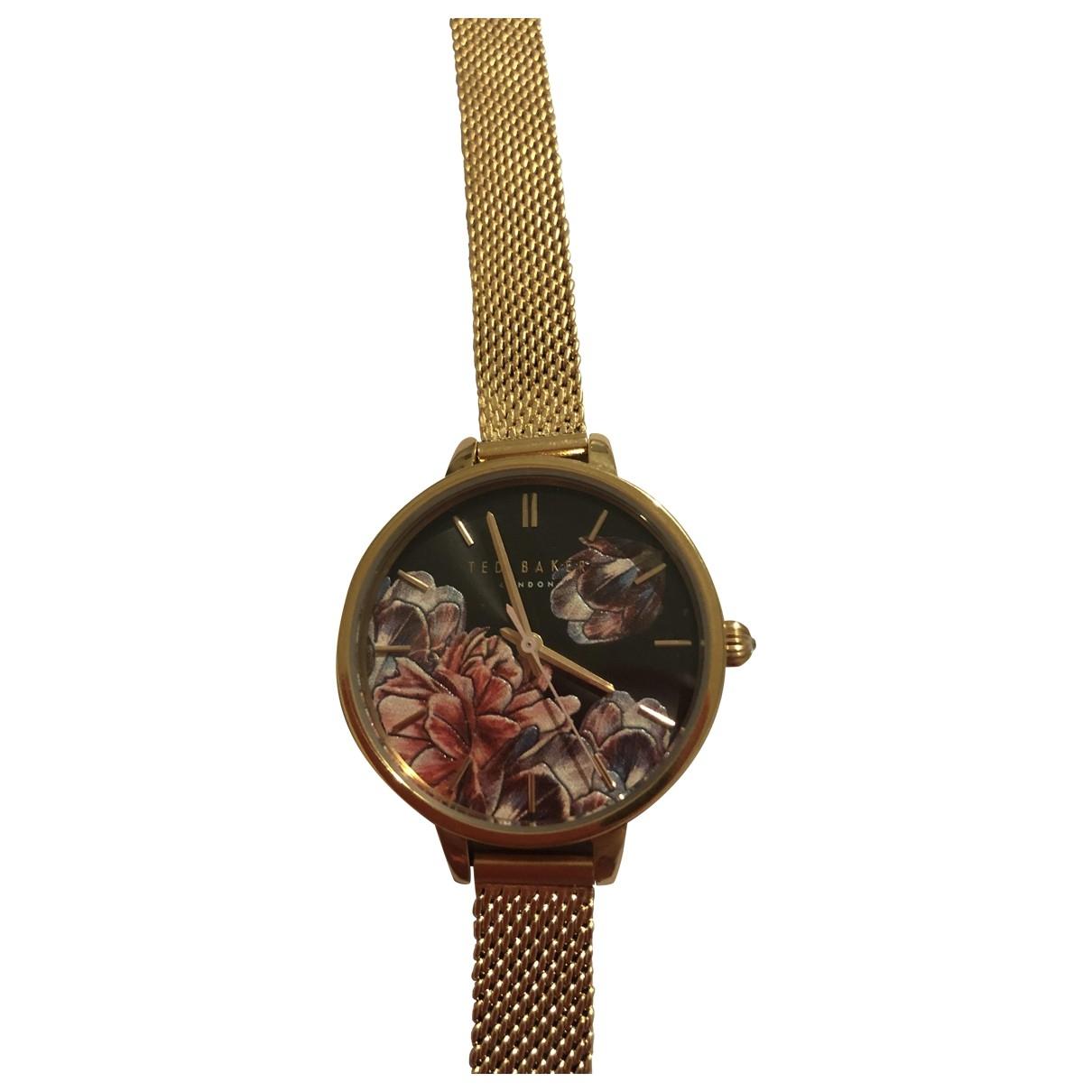 Ted Baker \N Gold Steel watch for Women \N