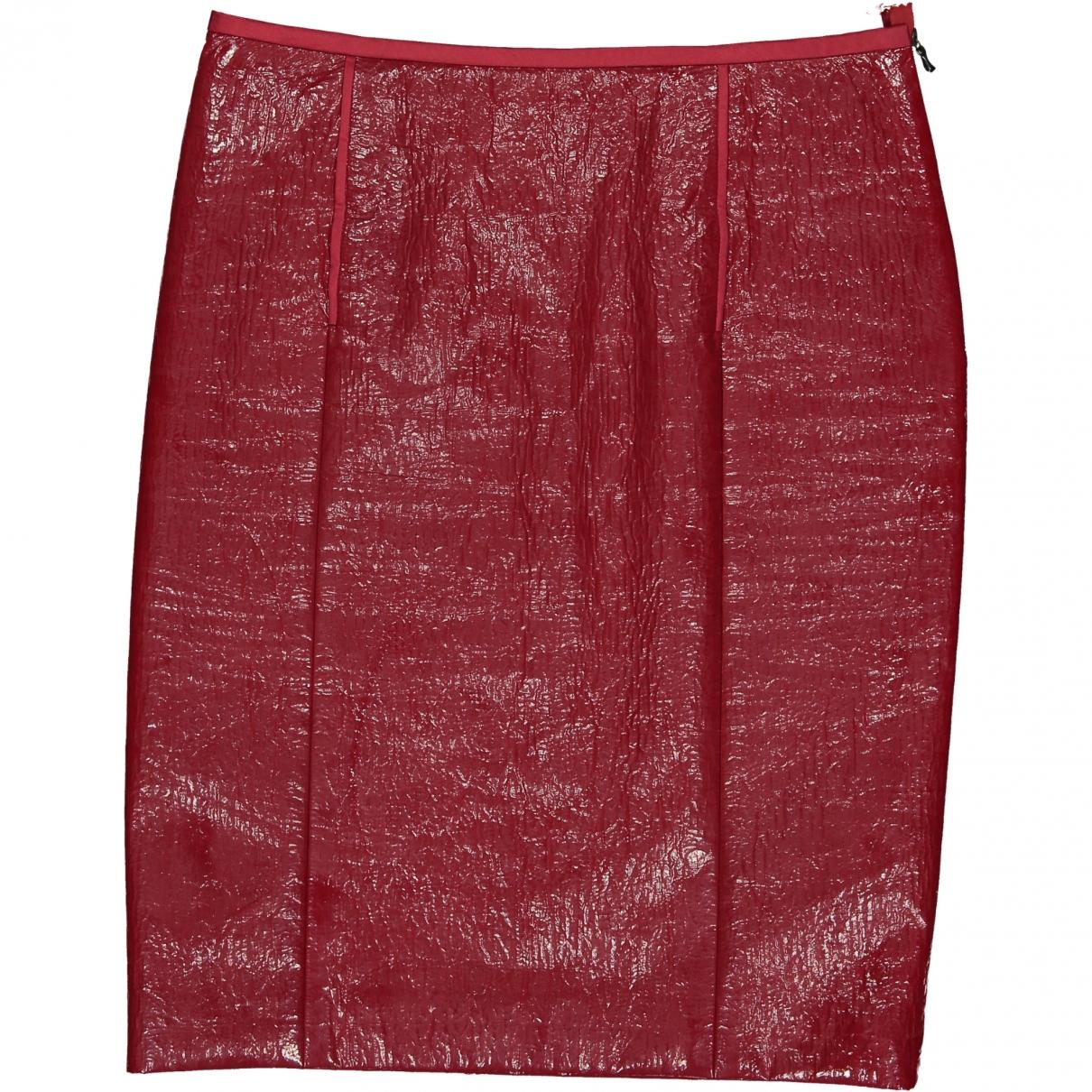 Lanvin \N Burgundy Cotton skirt for Women 38 FR