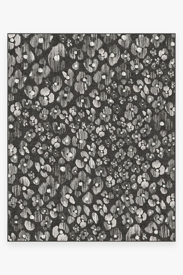 Washable Rug Cover & Pad | Ayana Charcoal Rug | Stain-Resistant | Ruggable | 8'x10'