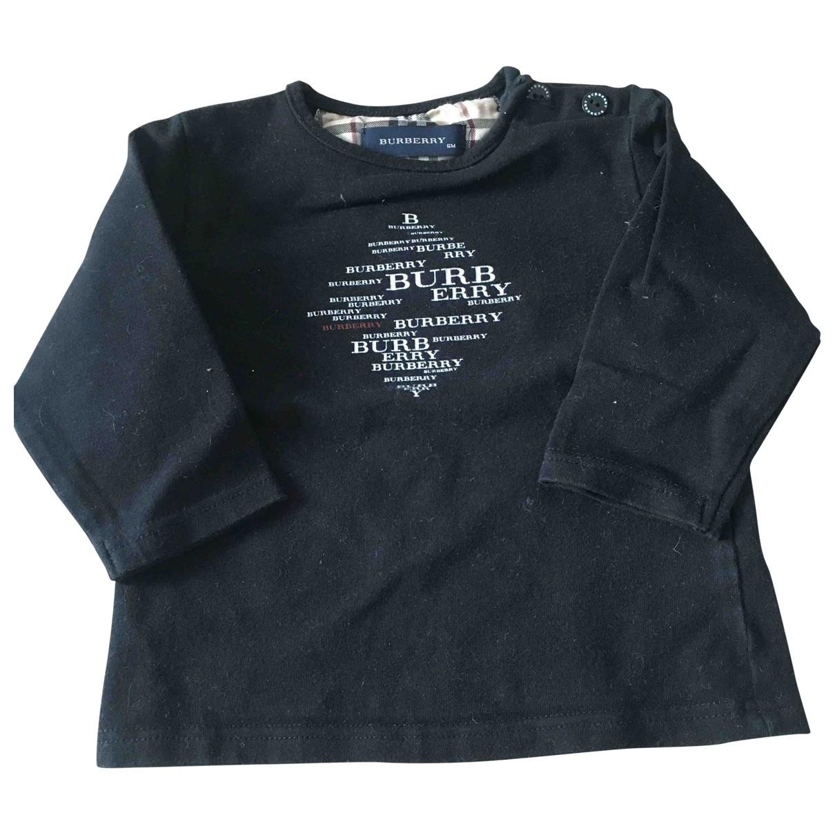 Burberry - Pull   pour enfant en coton - noir